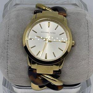 "Michael Kors Women's Lady Nini Gold Tone Watch 6"""